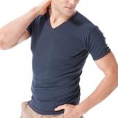 《MORINO》抗菌防臭速乾短袖V領衫 丈青(M)