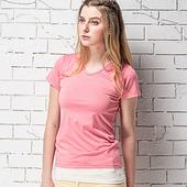 《MORINO》抗UV速乾女短袖衫 粉(M)