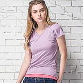 《MORINO》抗UV速乾女短袖衫 紫(M)