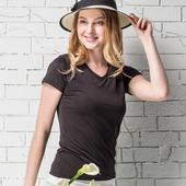 《MORINO》抗UV速乾女短袖衫 黑(M)