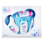 《Sebamed施巴》嬰兒大四件禮盒(泡泡浴露+潤膚乳液+洗髮乳+護膚膏)