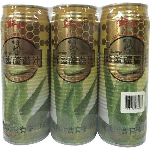 鮮剖 蜂蜜蘆薈汁(520ml*3罐/組)