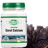 《Organika優格康》珊瑚鈣素食膠囊(90顆 15天份)(單入)