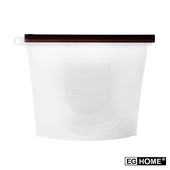 《EG Home》矽膠食物密封保鮮袋1000ml(8入組)(透明)