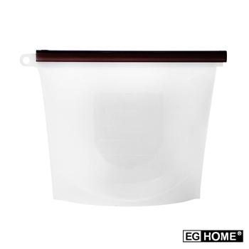 ★結帳現折★《EG Home》矽膠食物密封保鮮袋1000ml(8入組)(透明)