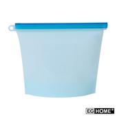 《EG Home》矽膠食物密封保鮮袋1000ml(8入組)(藍色)