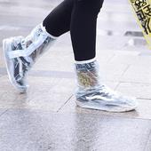 《Bunny》時尚卡通清新印花高筒加厚防滑雨鞋套(綠光森林系列L號)