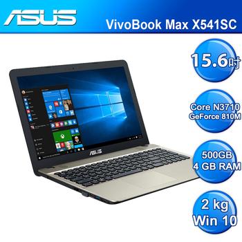 ASUS 華碩 VivoBook Max X541SC-0051AN3710 筆記型電腦 黑色(X541SC-0051AN3710)