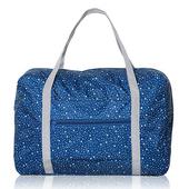《韓版》420D加密防水小清新印花加厚拉桿收納袋(4色)(深藍星星)