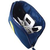 《JTourist》個性撞色數位配件包/文具袋/化妝包(深藍/大)