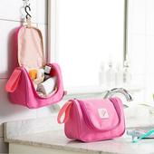 《JTourist》粉彩糖果色輕便型盥洗包/化妝包(藍)