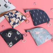 《JTourist》日系簡約零錢包/鑰匙包/化妝包/小物收納包(花園深藍)