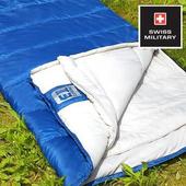 《SWISS MILITARY》可拼接保暖睡袋(藍色) #S6T3M002B