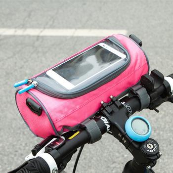 JTourist 時尚亮彩多功能防潑水圓筒包/自行車包/單肩包/斜背包(黑)