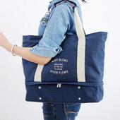 《JTourist》都會時尚風格多功能旅行收納包/手提包/肩背包(天藍)