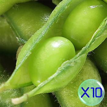 《禎祥食品》外銷日本A級鹽味毛豆 (300g/包,共10包)