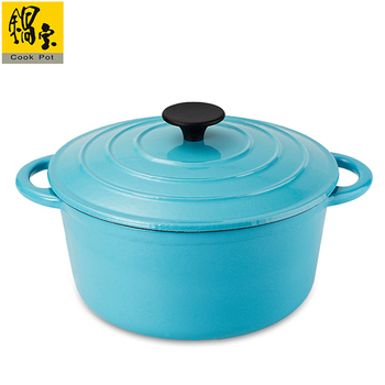 鍋寶 歐風琺瑯鑄鐵鍋24cm-蒂芬妮藍(CI-2411B)