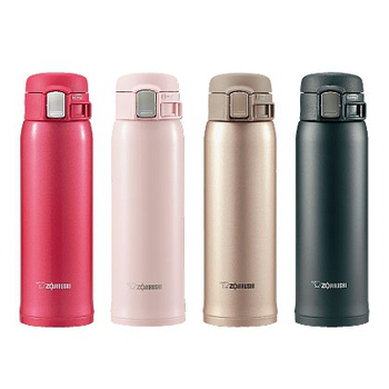 【象印】 0.48L ONE TOUCH不鏽鋼保溫/保冷瓶 SM-SA48(PB粉色)