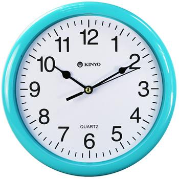 KINYO 圓形精緻8吋掃秒靜音掛鐘(CL-108)