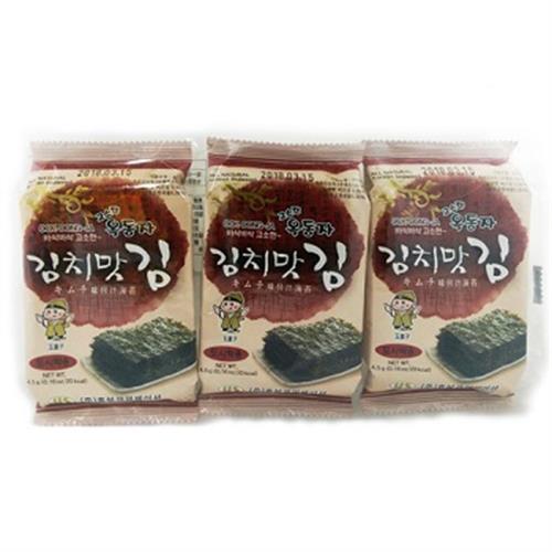 玉童子 韓國辣味泡菜海苔(4.5g*3包)