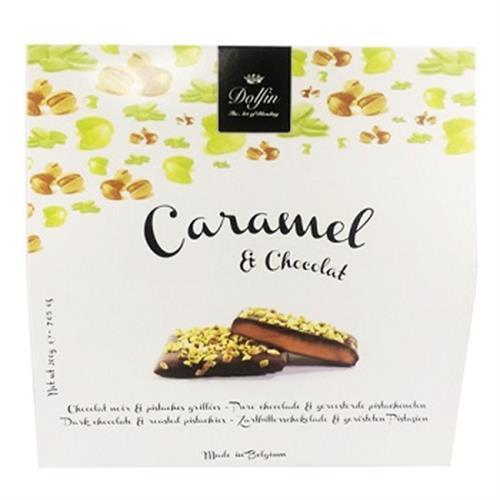 比利時DOLFIN烘焙開心果黑巧克力(200g)