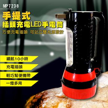 ★結帳現折★EASY HOME 手提式插頭充電LED手電筒