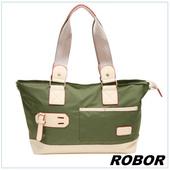 《韓系型男 ROBOR》韓版休閒百搭中性尼龍側背包旅行包(軍綠)