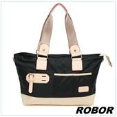 《韓系型男 ROBOR》韓版休閒百搭中性尼龍側背包旅行包(黑色)