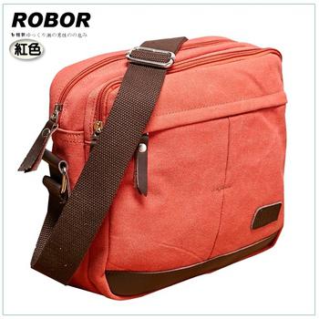 韓系型男 ROBOR 東京時尚簡約風休閒包/側背/斜背包(紅色)
