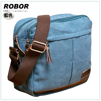 韓系型男 ROBOR 東京時尚簡約風休閒包/側背/斜背包(藍色)