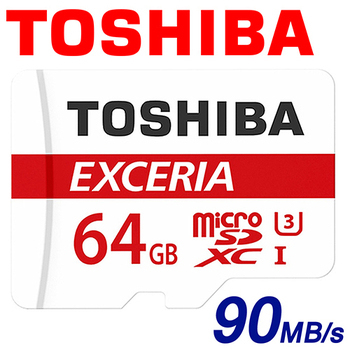 TOSHIBA 東芝 64GB 90MB/s EXCERIA microSDHC TF U3 M302 記憶卡