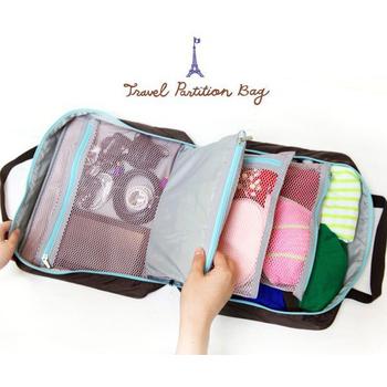 JTourist 超強多功能旅行收納袋(玫瑰紅)