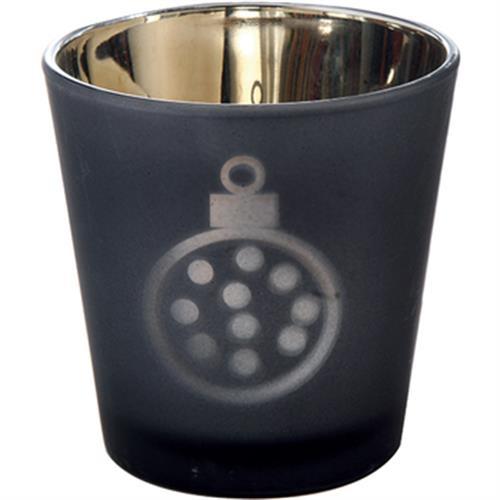 時尚透光燭杯 黑(7.5*7.5*7.5公分)