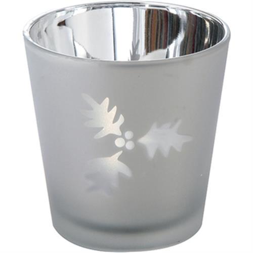 時尚透光燭杯 銀(7.5*7.5*7.5公分)