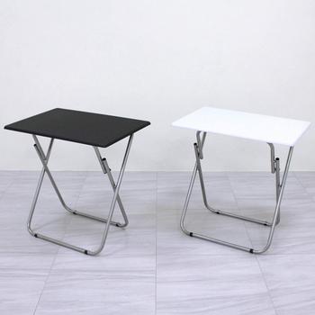 頂堅 2.2公分鋼管[耐重型]長方形折疊桌/餐桌/洽談桌/休閒桌/拜拜桌/便利桌(二色可選)(黑色)