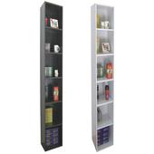《頂堅》寬24公分(細長型)六層間隙書櫃/置物櫃/收納櫃(二色可選)(深咖啡色)