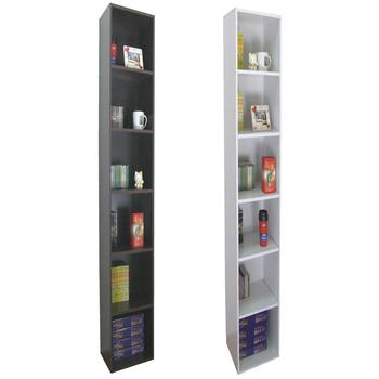 頂堅 寬24公分(細長型)六層間隙書櫃/置物櫃/收納櫃(二色可選)(素雅白色)