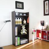 《頂堅》寬60公分(4層美背式)收納櫃/置物櫃/書櫃(深咖啡色)(深咖啡色)
