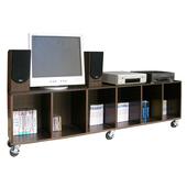 寬180公分(耐重型)電視櫃/活動櫃/電器櫃(附六個工業輪)二色可選