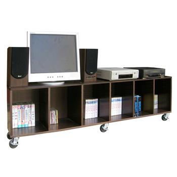 《頂堅》寬180公分(耐重型)電視櫃/活動櫃/電器櫃(附六個工業輪)二色可選(深咖啡色)