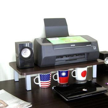 頂堅 寬60公分-桌上型置物架/螢幕架(二色可選)(深胡桃木色)