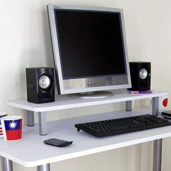 頂堅 寬80公分-桌上型置物架/螢幕架(二色可選)(素雅白色)