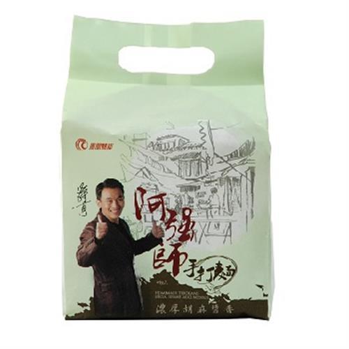 阿強師 手打麵(濃厚胡麻醬香-(五辛素)4包/袋)