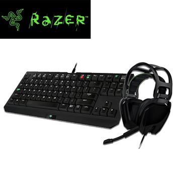 Razer雷蛇 黑寡婦競技版機械式鍵盤+迪亞海魔2.2聲道耳麥 超值組