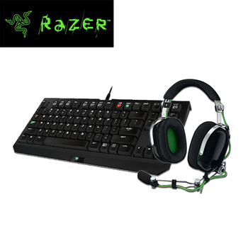 Razer雷蛇 黑寡婦競技版機械式鍵盤+旋風黑鯊 耳麥 超值組