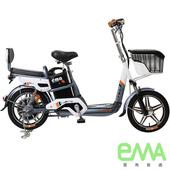 《EMA雲馬》A+ 電動 48鉛酸 LED 輕便 後雙避震 腳踏助力 (電動輔助自行車)灰白 $24800