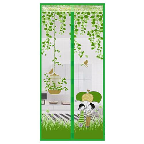 防蚊造型磁扣門簾(情侶雨傘-綠)