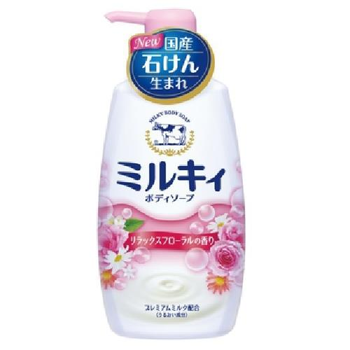 牛乳石鹼 牛乳精華沐浴乳(玫瑰花香550ml)