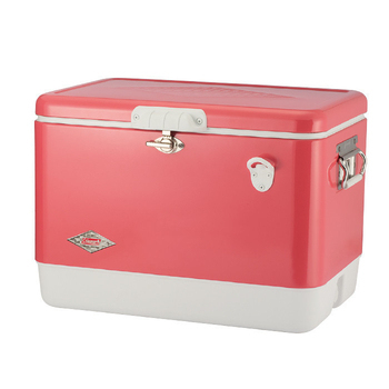 《Coleman》懷舊系列 51L 草莓紅經典鋼甲冰箱 #CM-04166