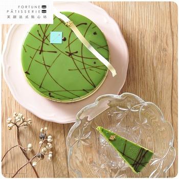 芙甜法式點心坊 宇治抹茶紅豆慕斯蛋糕(6吋/770g/入)